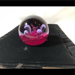 CAITHNESS PAPERWEIGHT Moonflower limited Edition